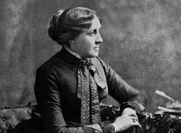 Photograph of author Louisa May Alcott.