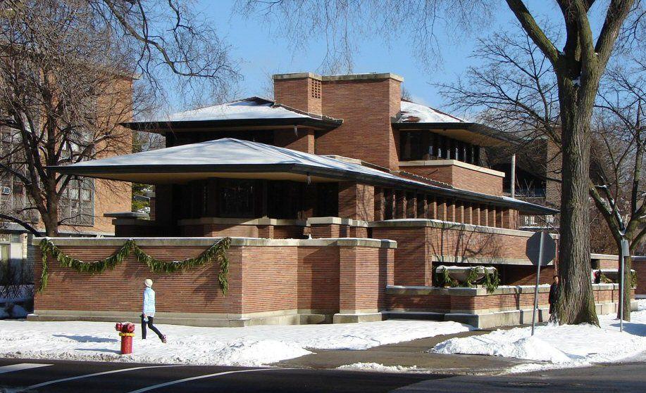 La Maison Frederic C. Robie, conçu par Frank Lloyd Wright, 1909.
