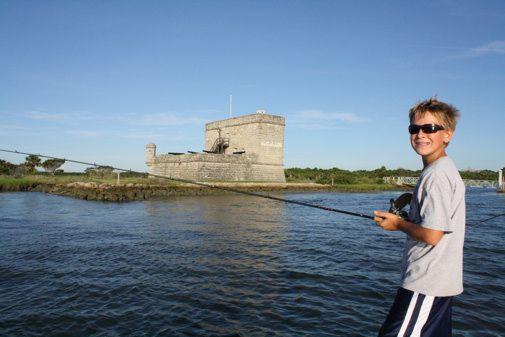 The old Spanish fort at the entrance to Matanzas Inlet in Florida