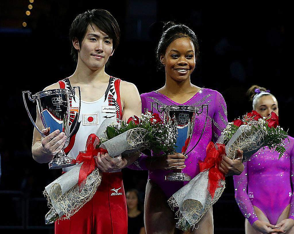 Photos of olympic champion gymnast gabby douglas gabby douglas and ryohei kato at the 2016 american cup m4hsunfo