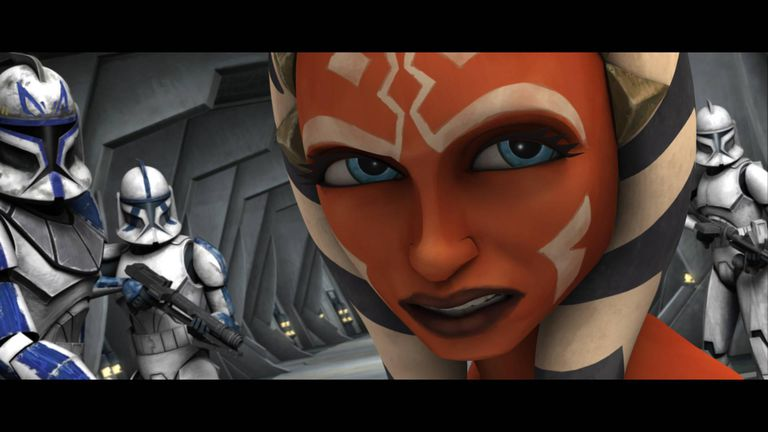 "Ahsoka Tano in ""The Clone Wars."""