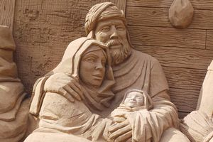 Sculpture of Mary, Joseph and Jesus