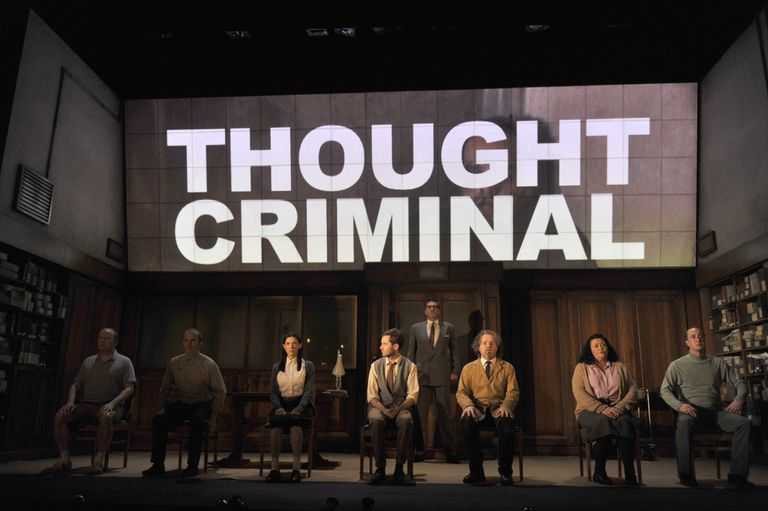 UK - George Orwell's 1984 directed by Robert Icke and Duncan Macmillan at the Playhouse Theatre in London.