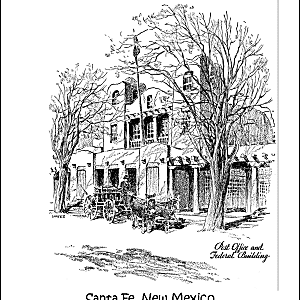 santa fe post office new mexico coloring page