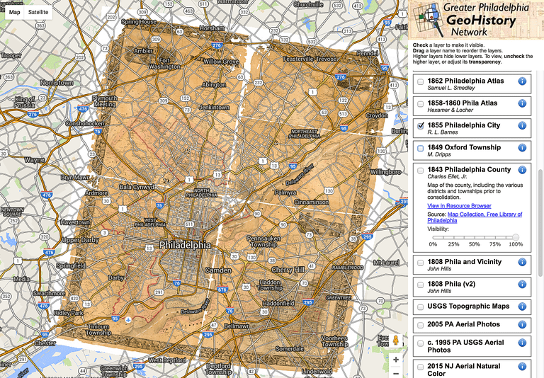 Historical map overlays for google maps and google earth the greater philadelphia geohistory network serves up historic maps of philadelphia from 1808 to the 20th gumiabroncs Images