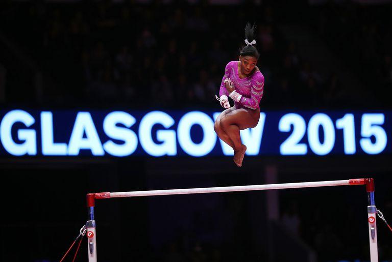 Simone Biles 2015 worlds Glasgow