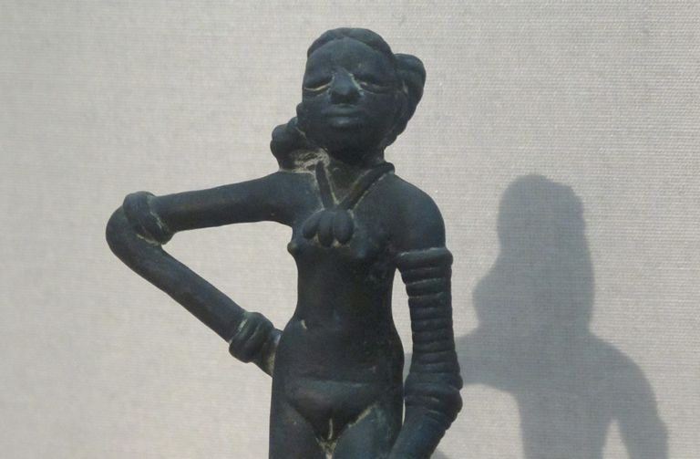 Close up of the Dancing Girl from Mohenjo-Daro.