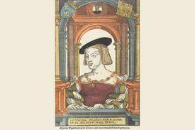 Eleanor of Austria from a painting by Pieter Coecke van Aelst the Elder