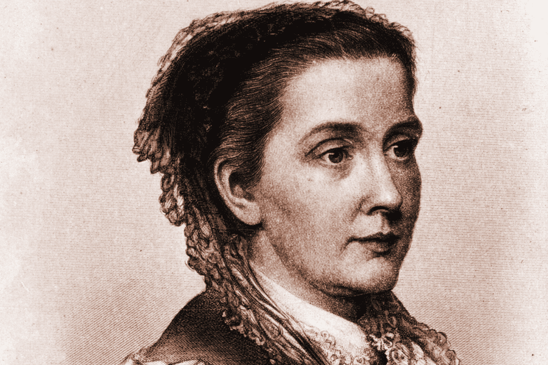 A Younger Julia Ward Howe (About 1855)