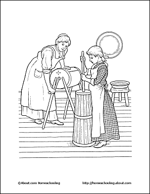 pioneer life coloring page page 3