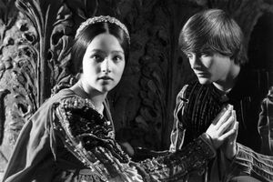 British actors Olivia Hussey and Leonard Whiting join hands in 'Romeo and Juliet'.