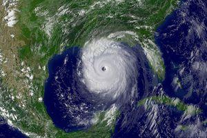 satellite view of Hurricane Katrina