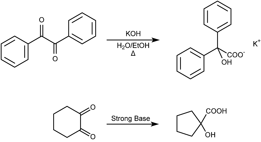 This is the general form of the benzilic acid rearrangement reaction.