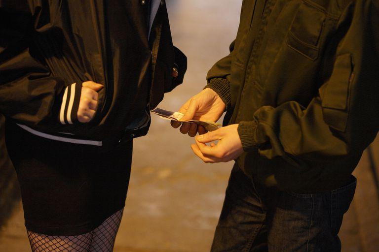 Street prostitute talking money