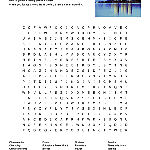 Nuclear Energy Wordsearch