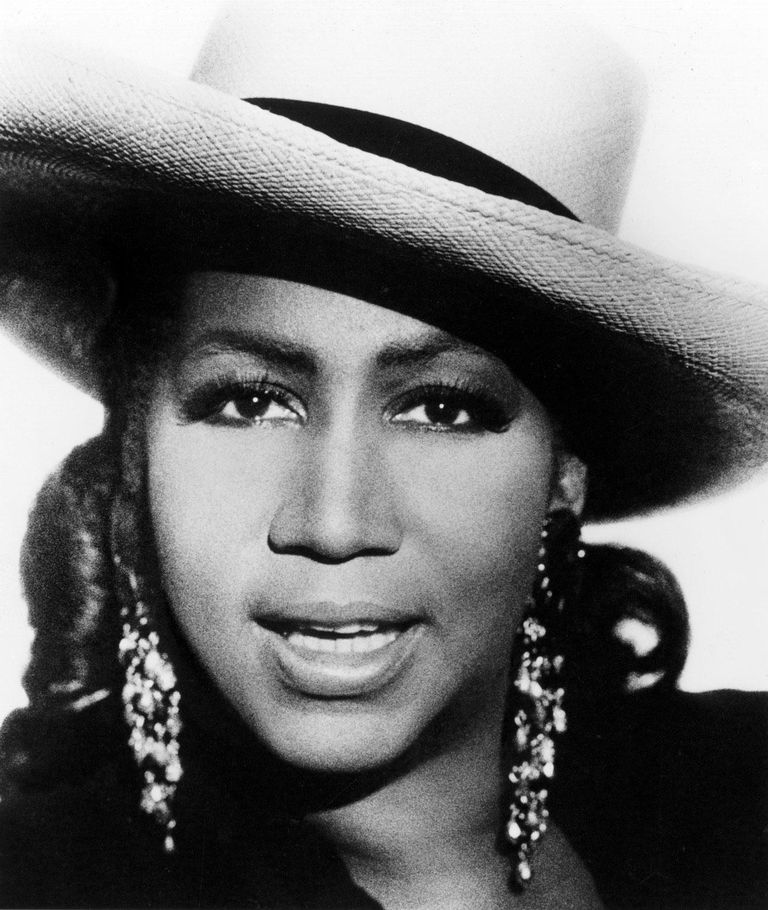 Publicity still of American singer and actress Aretha Franklin, Arista Records, 1980