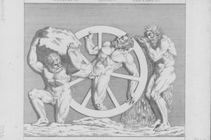 Illustration of the Eternal Punishment Of Sysiphus, Ixion and Tantalus