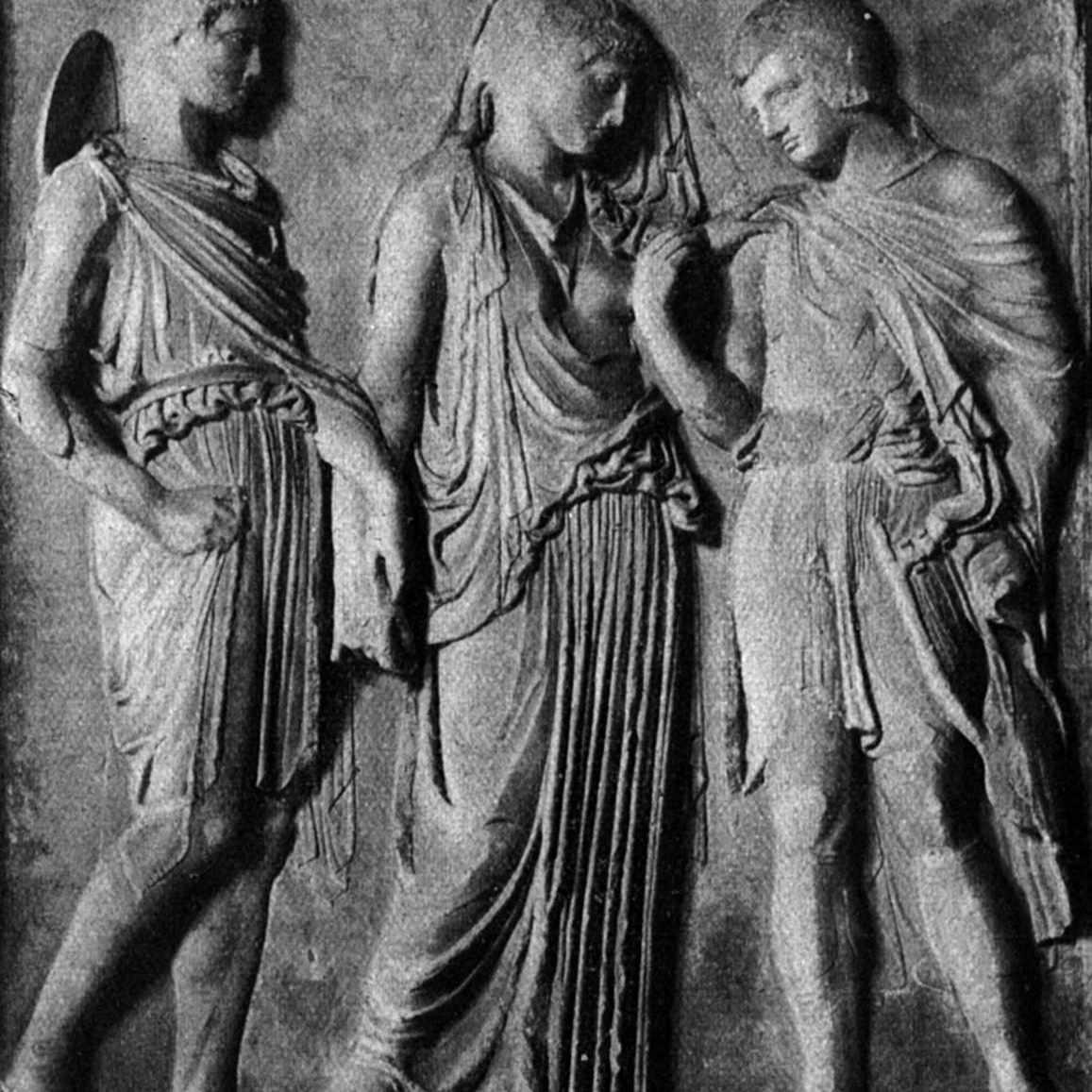 Hermes, Orpheus and Eurydice