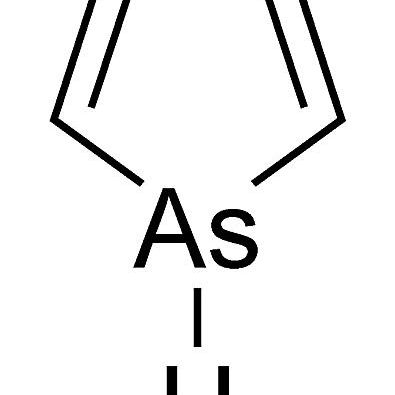 This is the chemical structure of arsole.