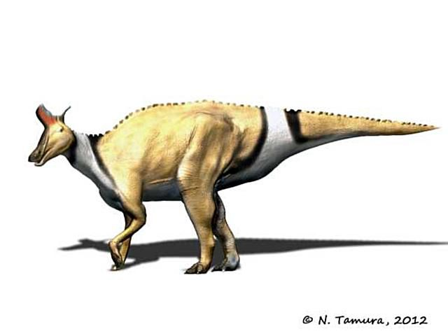 artists rendering of a lambeosaurus