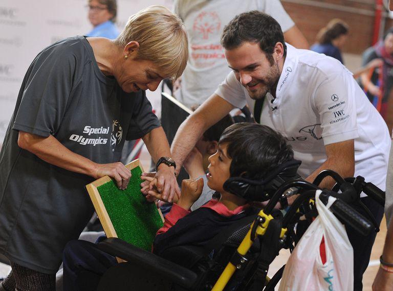 Juan Mata visits Special Olympics - Laureus