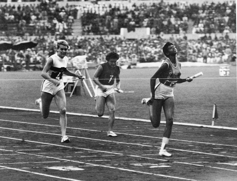 Wilma Rudolph Breaks The Tape in 1960