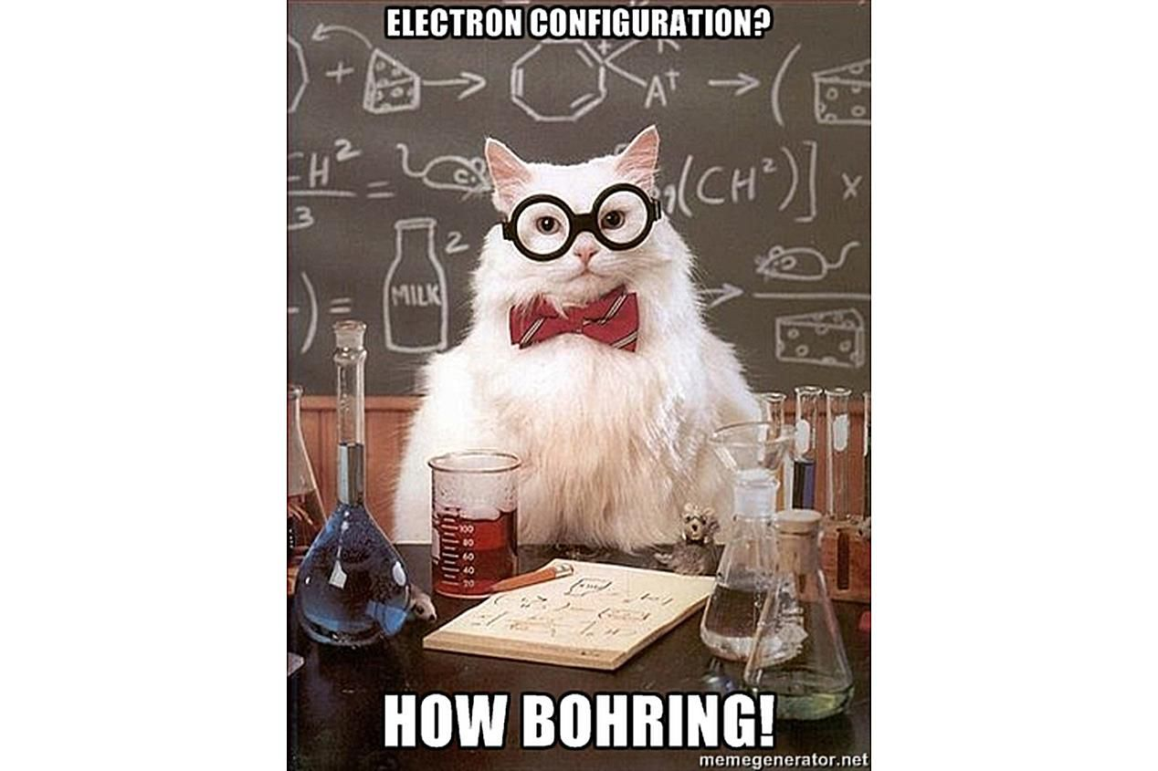 Chemistry Cat is not all that interested in electron configurations.