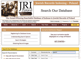 Over 5 million names can be found in this free, searchable database of indexes to Jewish vital records of Poland.