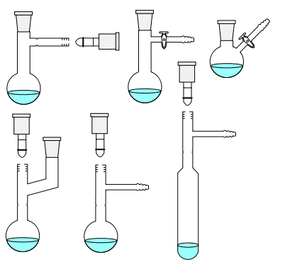 A Schlenk flask or Schlenk tube is a glass reaction vessel that was invented by Wilhelm Schlenk.