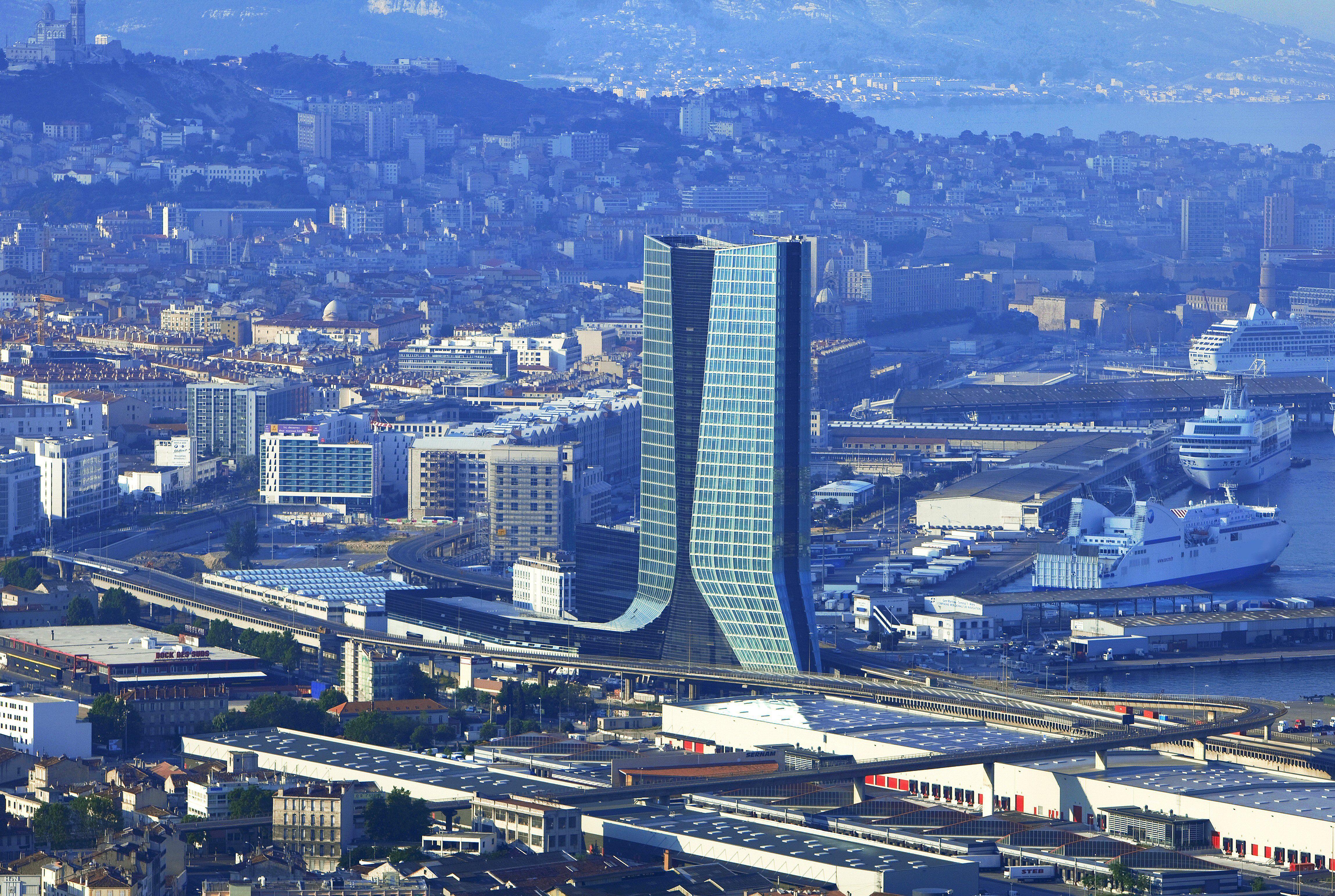 The CMA CGM Tower skyscraper in Marseille, France