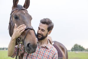 man and a horse