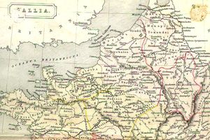 An old map of Northern Gaul