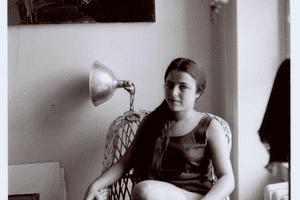 Photograph of Eva Hesse, ca. 1959.