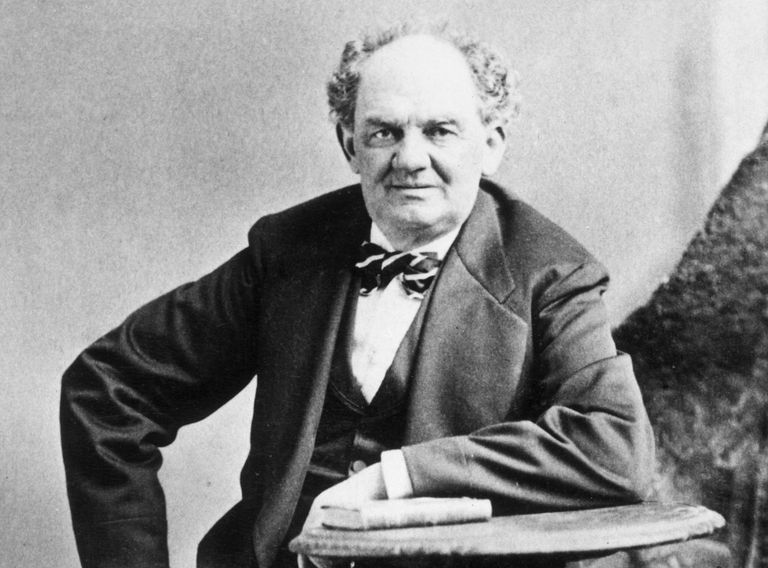 Photographic portrait of showman Phineas T. Barnum