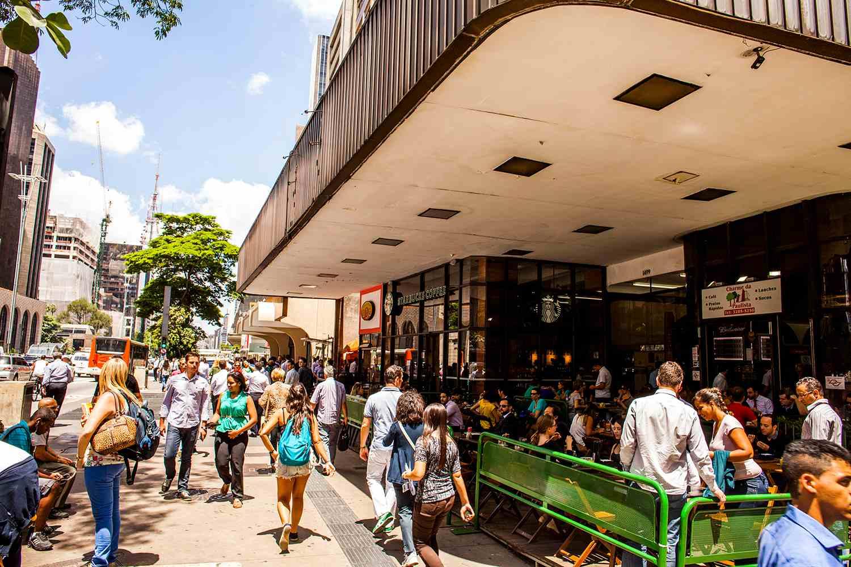 A street scene from Paulista Avenue in Sao Paulo.