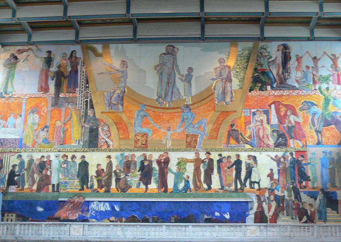 Mural at the Oslo City Hall