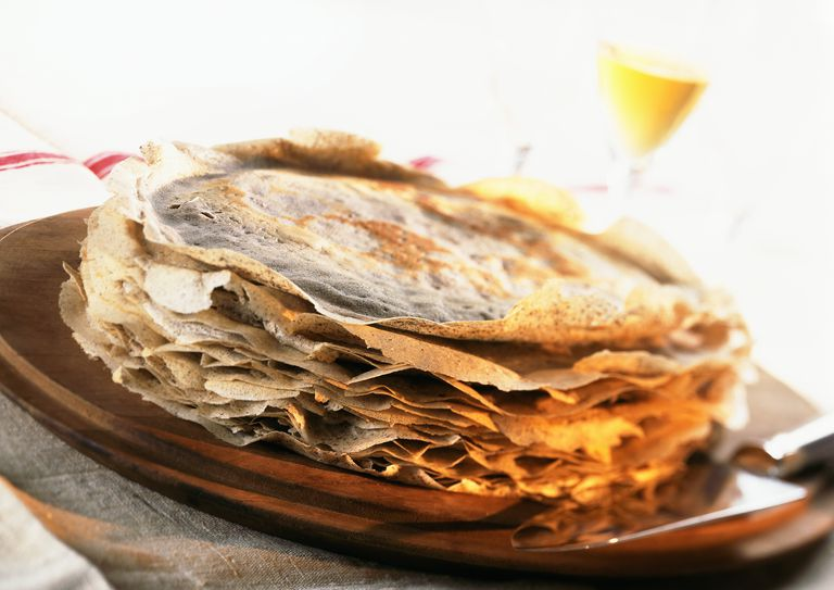 plate of French crepes