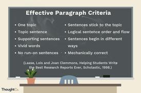 Effective Paragraph Criteria
