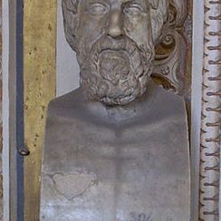 Bust of Pythagoras at the Vatican Museum, in Rome.