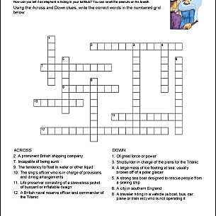 A Titanic crossword puzzle to complete
