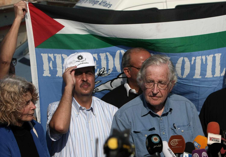 noam chomsky palestinian protest gaza