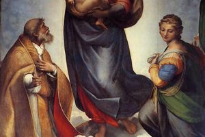 The Sistine Madonna painted by Raphael, 1512-14