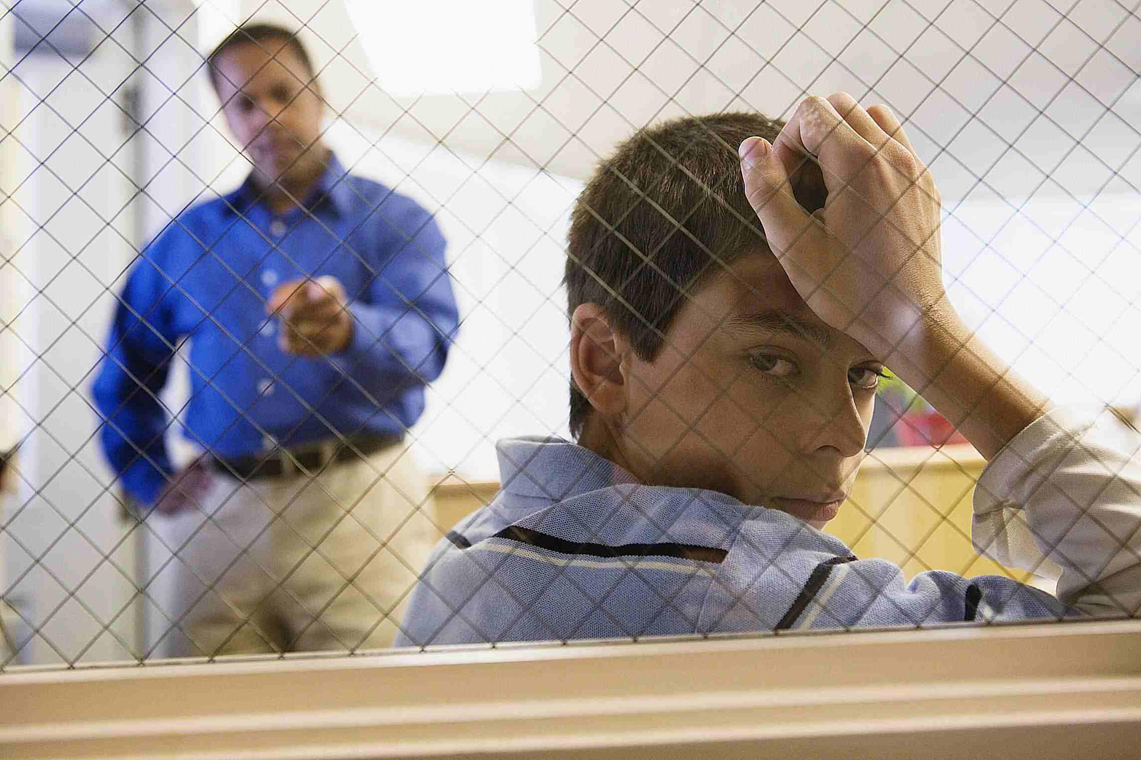 teacher Disciplining a Student