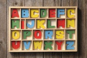 Blocks of letters