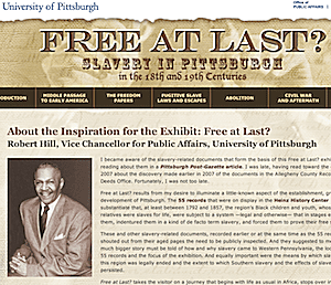 Free at Last? Slavery in Pittsburgh in the 18th and 19th Centuries