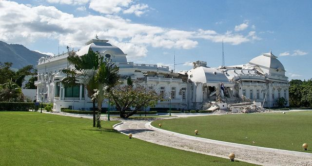 Ruins of the Haiti National Palace, the Presidential Palace in Port-au-Prince, Haiti