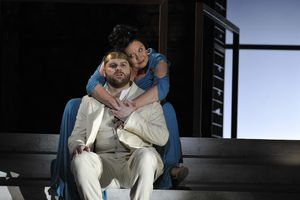 UK - Julian Anderson and Frank McGuinness's Thebans directed by Pierre Audi and conducted by Edward Gardner at the Londo