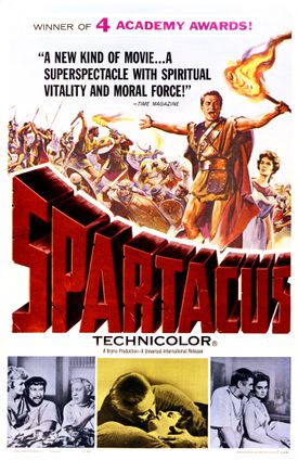 1960 movie poster for Spartacus