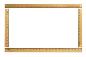 rulers forming a rectangle