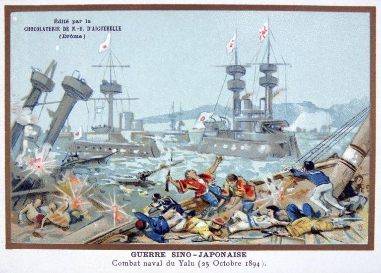 Battle of the Yalu River, Sino-Japanese War, 25 October 1894.